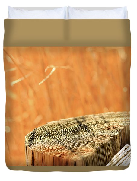 Cantigny Fence Post Duvet Cover