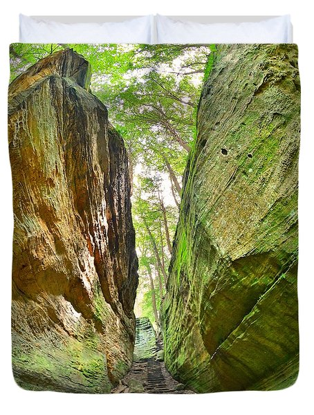 Cantwell Cliffs Trail Hocking Hills Ohio Duvet Cover