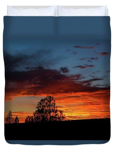 Canvas For A Setting Sun Duvet Cover
