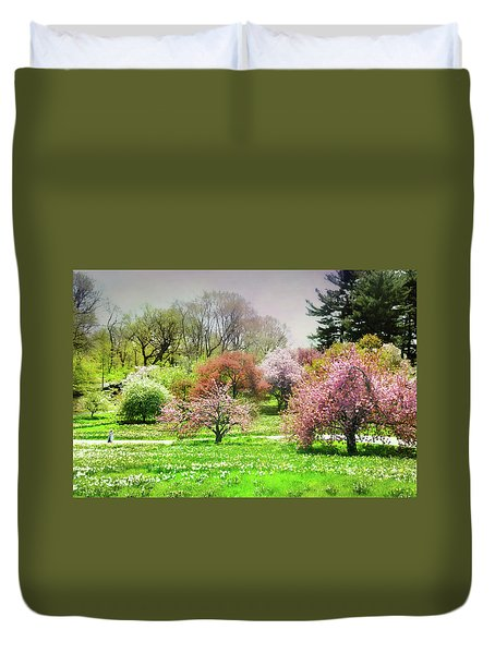 Duvet Cover featuring the photograph Garden Canvas  by Diana Angstadt