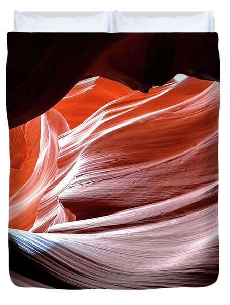 Duvet Cover featuring the photograph Canyon Abstract 2 by Nicholas Blackwell