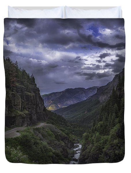 Canyon Creek Sunset Duvet Cover