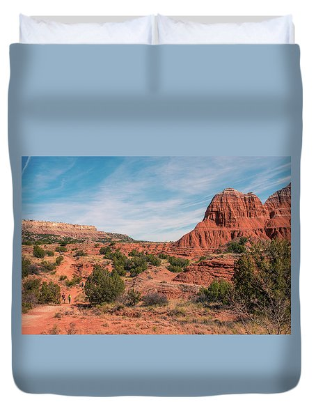 Canyon Hike Duvet Cover