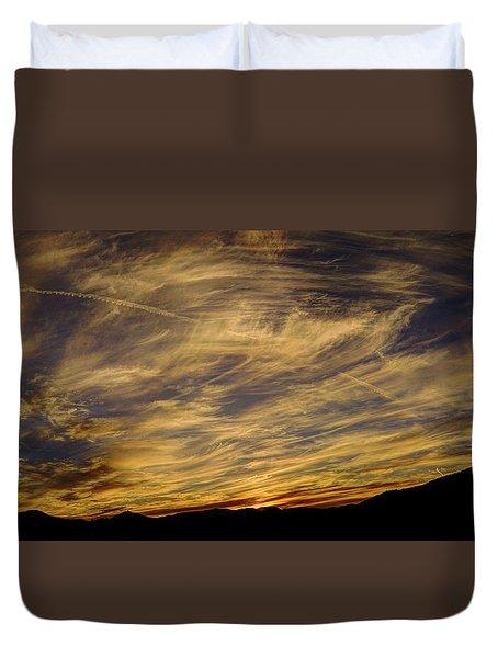 Canyon Hills Sunset Duvet Cover