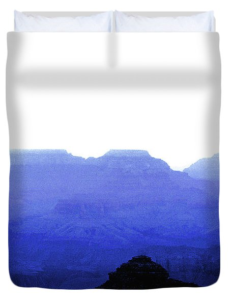 Canyon In Blue Duvet Cover