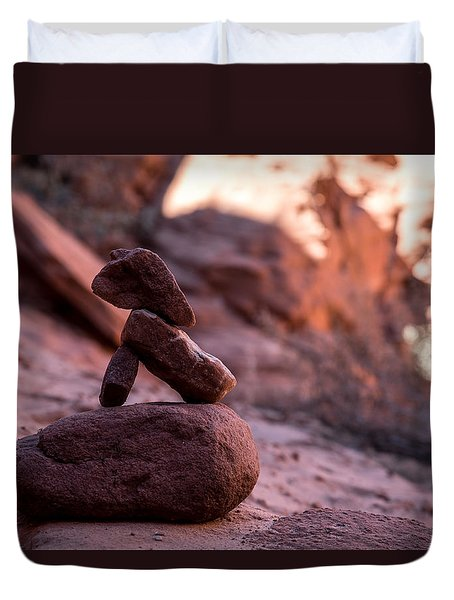 Canyon Marker Duvet Cover
