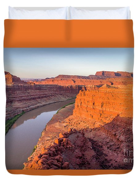 Canyon Of Colorado River - Sunrise Aerial View Duvet Cover