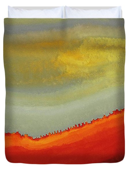 Canyon Outlandish Original Painting Duvet Cover by Sol Luckman