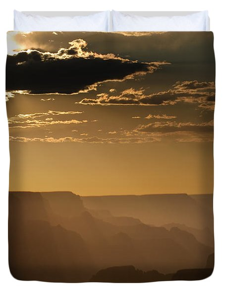 Canyon Strata Duvet Cover by Steve Gadomski