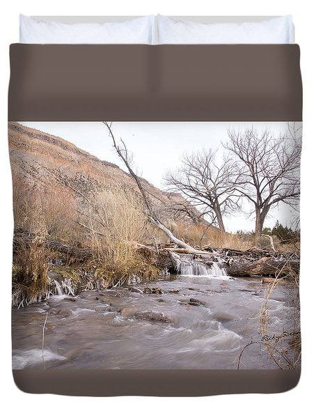 Canyon Stream Current Duvet Cover by Ricky Dean