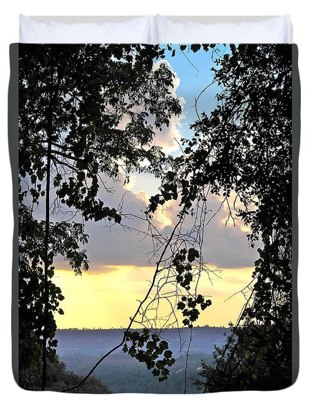 Duvet Cover featuring the photograph Canyon Sunset by Michele Myers
