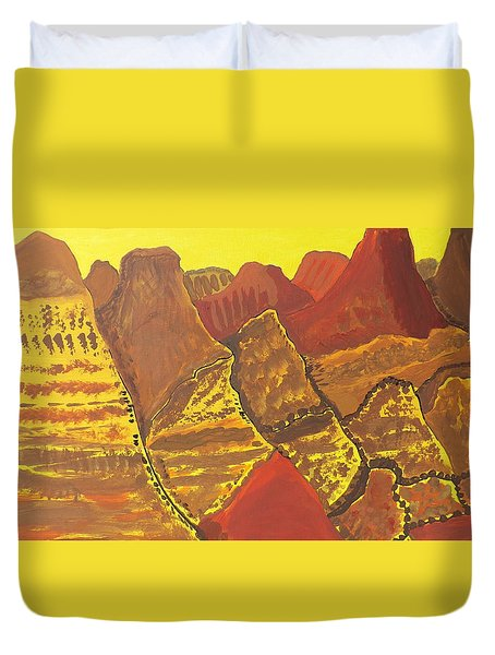 Duvet Cover featuring the painting Canyonlands by Don Koester