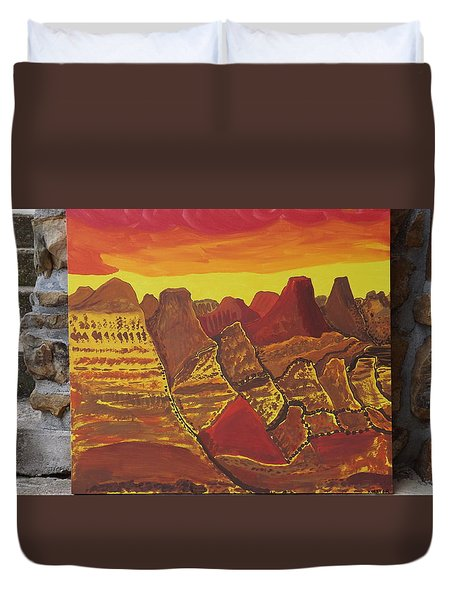 Duvet Cover featuring the painting Canyonlands Full Size by Don Koester