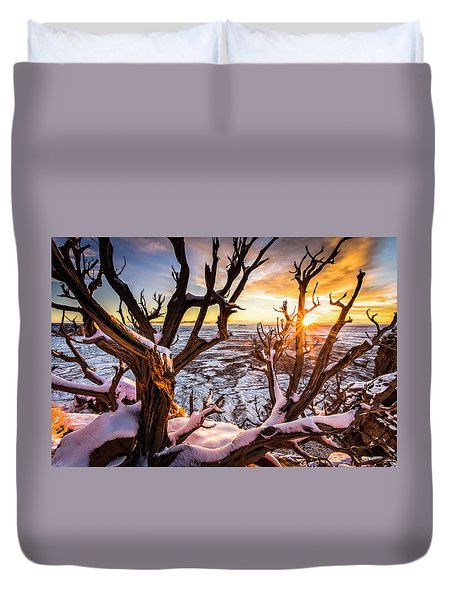 Canyonlands Winter Sunset Duvet Cover