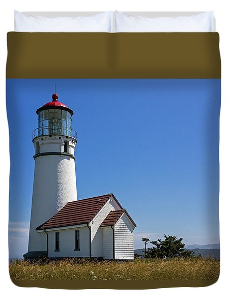 Cape Blanco Lighthouse H Duvet Cover by Inge Riis McDonald