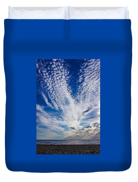 Duvet Cover featuring the photograph Cape Clouds by Kendall McKernon