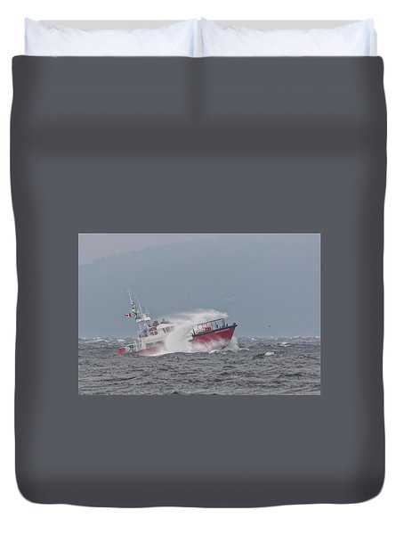 Duvet Cover featuring the photograph Cape Cockburn by Randy Hall