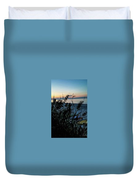Duvet Cover featuring the photograph Cape Cod Bay by Bruce Carpenter