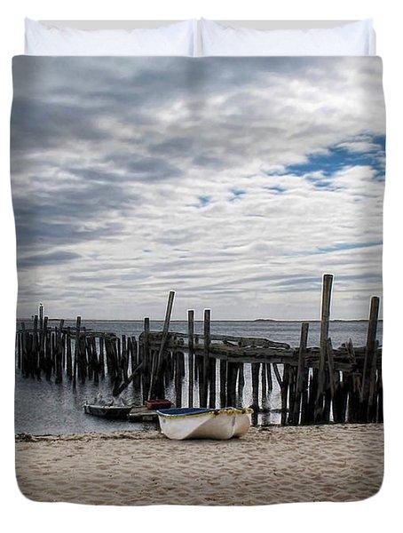 Cape Cod Bay Duvet Cover by Joan  Minchak