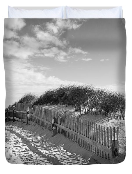 Cape Cod Beach Entry Duvet Cover
