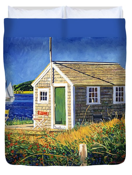 Cape Cod Boat House Duvet Cover