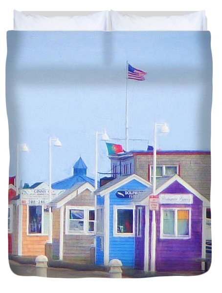 Cape Cod Cabins Duvet Cover