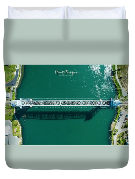 Cape Cod Canal Railroad Bridge Duvet Cover