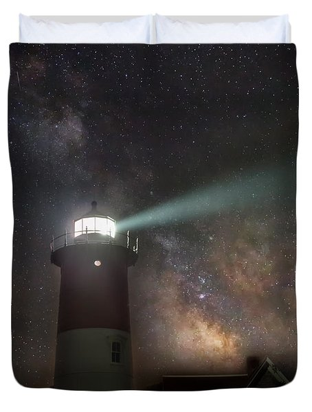 Duvet Cover featuring the photograph Cape Cod Celestial Outpost by Bill Wakeley