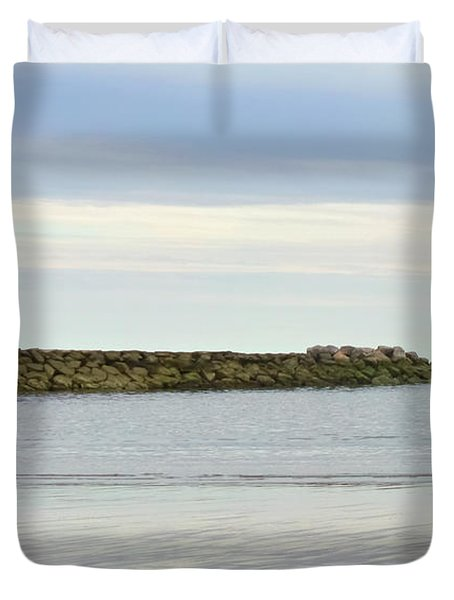 Cape Cod Jetty Sundown Duvet Cover