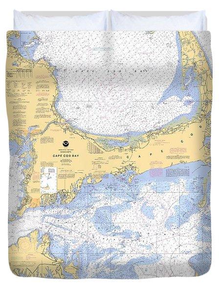 Cape Cod, Martha's Vineyard And Nantucket Chart Duvet Cover