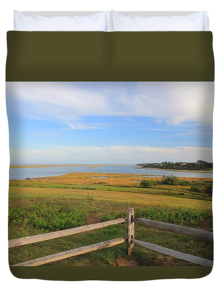 Cape Cod National Seashore Fort Hill Overlook Duvet Cover