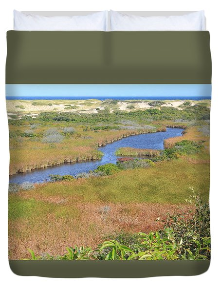 Cape Cod National Seashore Small Swamp Trail Early Autumn Duvet Cover