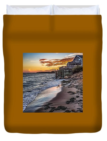 Duvet Cover featuring the photograph Cape Cod September by Kendall McKernon