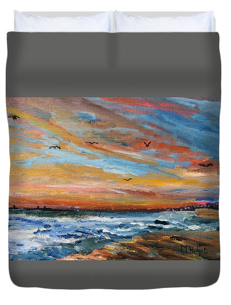 Cape Cod Sunrise Duvet Cover