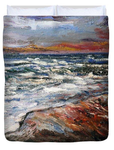 Cape Cod Sunset 1 Duvet Cover