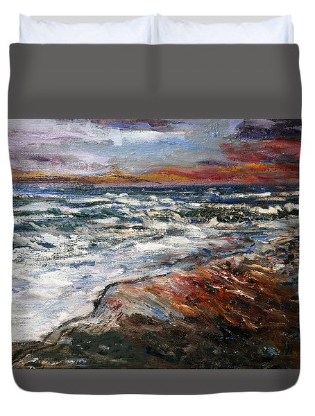 Cape Cod Sunset 1 Duvet Cover