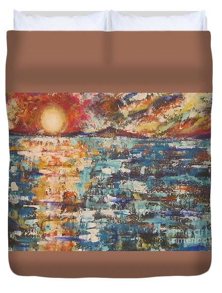 Cape Cod Sunset Duvet Cover