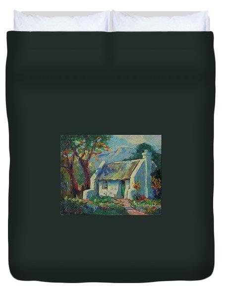 Cape Cottage With Mountains Art Bertram Poole Duvet Cover