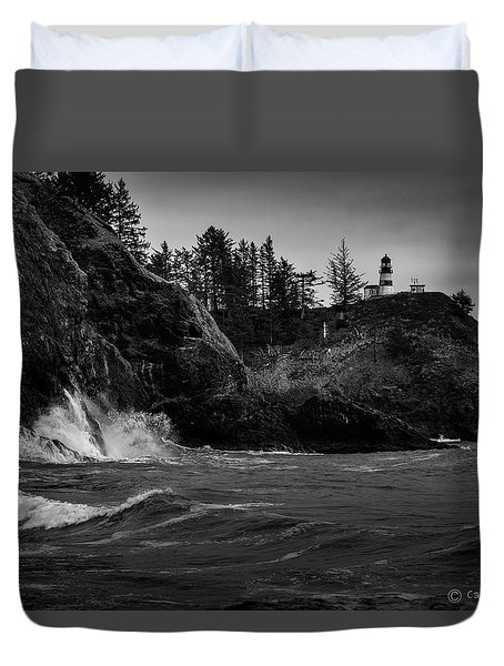 Cape Disappointment Lighthouse Duvet Cover