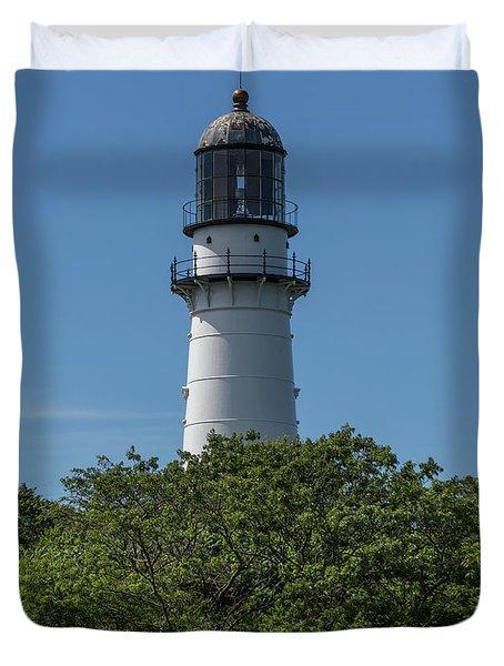 Cape Elizabeth Lighthouse Tower Duvet Cover
