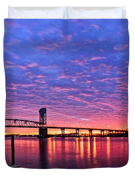 Cape Fear Bridge1 Duvet Cover