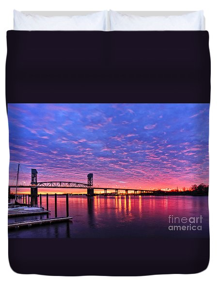 Cape Fear Bridge1 Duvet Cover