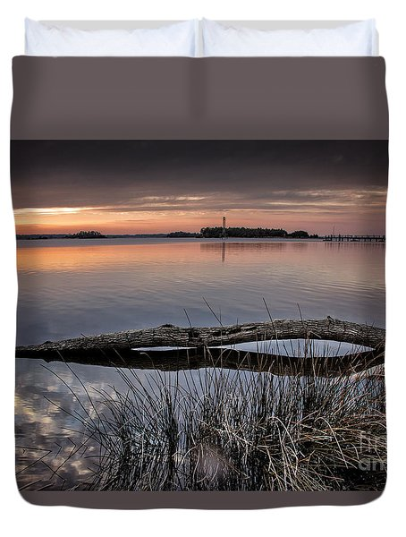Cape Fear Sunset Serenity Duvet Cover
