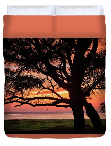 Cape Fear Sunset Overlook Duvet Cover