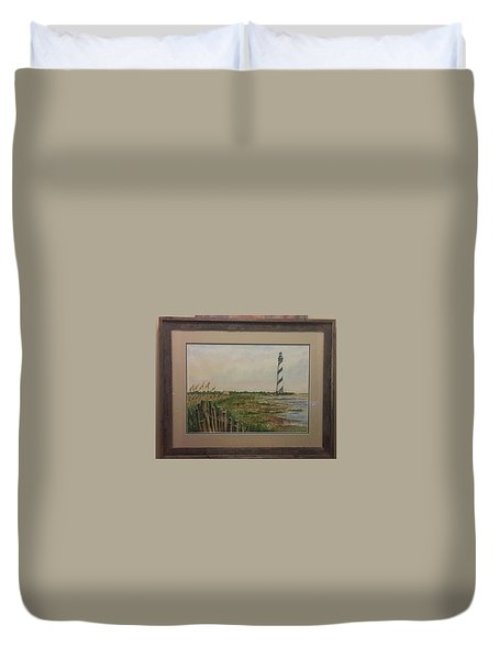 Cape Hatteras Light House Duvet Cover