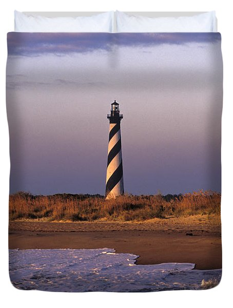 Cape Hatteras Lighthouse At Sunrise - Fs000606 Duvet Cover by Daniel Dempster