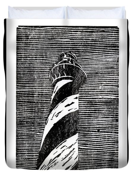 Duvet Cover featuring the painting Cape Hatteras Lighthouse II by Ryan Fox