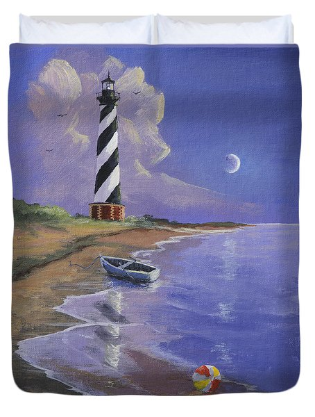 Cape Hatteras Lighthouse Duvet Cover by Jerry McElroy