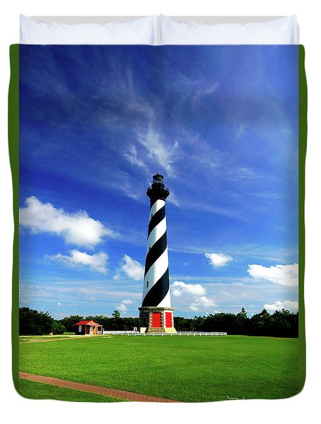Duvet Cover featuring the photograph Cape Hatteras Lighthouse by Meta Gatschenberger