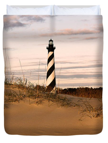 Cape Hatteras Lighthouse Duvet Cover by Tony Cooper